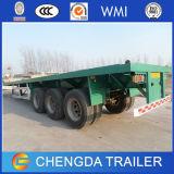 Eixo 3 40 pés de reboque Flatbed do caminhão feito em China