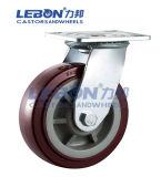 Feste Polyurethan-Hochleistungslaufkatze-industrielles Fußrollen-Rad