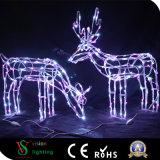 De LEIDENE van de Decoratie van Kerstmis Herten van de Verlichting