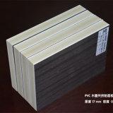 Placa de madeira da laminação de folha da espuma da laminação da grão WPC