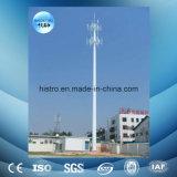 torre de la telecomunicación de los 50m, aro de la seguridad, escala del cable