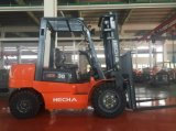 HechaのフォークリフトIsuzu元の日本のエンジンを搭載する3トンのディーゼルフォークリフト