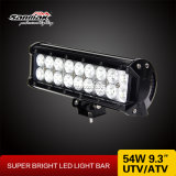 9.3 '' 3W barra clara do diodo emissor de luz do CREE 54W para UTV ATV