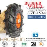 Hand-LKW-Laufkatze-Reifen Pubarrow Gummirad-Gummireifen 3.50-4
