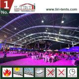 barraca enorme do famoso de Arcum da extensão de 40m com o telhado transparente para o evento de esportes