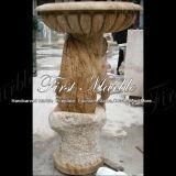 Piantatrice dorata MP-247 del calcio della piantatrice di pietra di marmo del granito