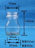 Glas des Stau-370ml für Essiggurken und Honig-Speicher mit Metallschutzkappe