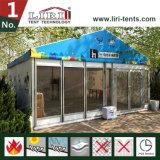 Tente en verre avec l'impression de couverture de toit pour l'exposition extérieure