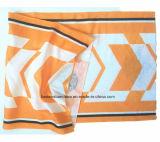 OEM van de Fabriek van China de Opbrengst Aangepaste Embleem Afgedrukte Elastische Sjaal Bleekgele Headwear van Sporten Microfiber