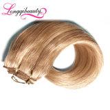 加工されていないブロンドのRemyのインドの人間のバージンの毛の拡張
