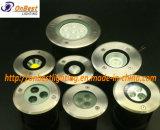 Indicatore luminoso sotterraneo chiaro esterno del LED 3W LED in IP67