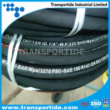 Fabriqué en Chine un boyau en caoutchouc hydraulique tressé de fil d'acier de couche