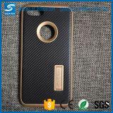 Cassa del telefono del PC della fibra TPU del carbonio di serie 2 di Motomo con Kickstand per Huawei P8/P8 Lite