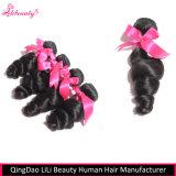 Le cheveu desserré d'onde empaquette les cheveux humains non transformés de 100%