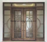 Portelli di entrata esterni del doppio del ferro saldato di disegno con vetro Tempered