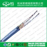 CAT6 bleus U/UTP conjuguent/câbles LAN Jumeaux de réseau du câble 23AWG