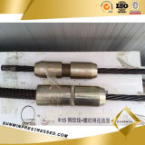Strand와 Rebar를 위한 단 하나 Hole Prestressed Anchor Connector