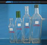 250/500/750/1000mlプラスチックふたが付いている透過オリーブ油のガラスビン