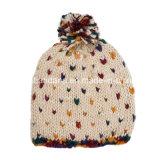 Le produit d'OEM a adapté le chapeau tricoté de Beanie barré par jacquard acrylique d'hiver brodé par logo