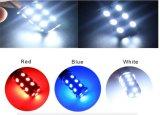 이중 색깔 호박색 백색 7443 5730 칩 20SMD 자동 브레이크 라이트 헤드라이트 DRL 우회 신호 Switchback LED 전구 램프