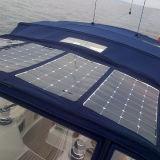 중국 최고 태양 전지 바다 100W 광전지 유연한 태양 전지판