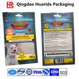 Пластичный Ziplock мешок собачьей еды с зазубриной Gusset и разрыва