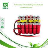Lithium-Ionenbatterien 6600mAh 14.8V 18650 für Ausgangs-Glühlampen