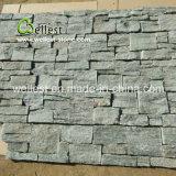 Impiallacciatura naturale verde grigia della pietra decorativa