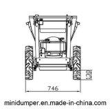 Micro descarregador Chain da movimentação 4WD com a cubeta de Galvnazing do MERGULHO revestido ou quente do pó