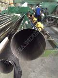 Tubo de acero inoxidable con el oro de Rose