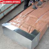 Da telhadura ondulada revestida material da cor do soldado do zinco folha de aço da telha