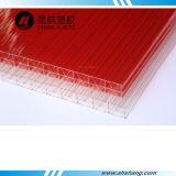 Hoja blanca de la azotea de la sombrilla del policarbonato de cinco paredes para la decoración