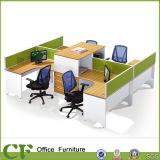 Melhor estação de trabalho personalizada do escritório da pessoa da estação de trabalho 4 da equipe de funcionários do preço