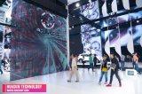 P25 pantalla video lateral doble del efecto LED para la exposición, feria profesional