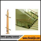 Balaustre del acero inoxidable de la escalera del hotel que cerca con barandilla