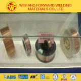 0.9mm Draad van het Lassen van mig van Co2 sg2/Er70s-6 de Koper Met een laag bedekte van de Gouden Kwaliteit ISO9001 van de Brug