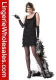 Form-Troddel-Prallplatte-Kleid-Partei Cosplay Kostüm Zwanzigerjahre der reizvollen Frauen
