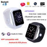 Bluetooth 4.0 reloj teléfono inteligente con ranura para tarjeta SIM (GM18S)