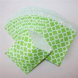 Bolsas de papel verdes rayadas respetuosas del medio ambiente de la flor para el partido