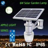 Lumière solaire solaire sèche de jardin de réverbère