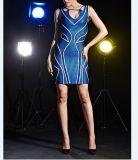 Платье клуба обруча повязки полого сексуального пакета Bodycon Hip
