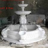 백색 Carrara 돌 조각품 분수 (SY-F007)