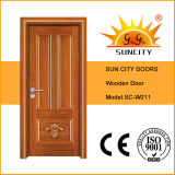 El último diseño de madera de la puerta con el pequeño vidrio abierto (SC-W027)