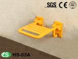 Assento de madeira do chuveiro da dobradura do Teak moderno do banheiro HS-um, assento fixado na parede do chuveiro