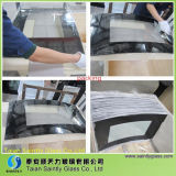 4mm Curved Tempered Float Glass Panel pour Fireplace Door avec Silkscreen Printing