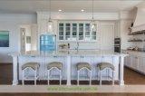 水晶上(WH-D295)が付いている白い純木浜様式の食器棚