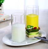 Vetro bevente della tazza quadrata di vetro del latte di resistenza termica