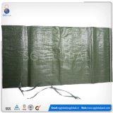 Obscuridade por atacado - plástico pequeno verde sacos tecidos da areia