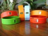 Bracelet personnalisé de silicium personnalisé par logo pour le cadeau de promotion