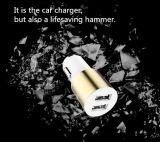 Snelle het Laden dubbel-Haven USB de Mini Draagbare Lader van de Auto van de Hamer van de Veiligheid 5V 2.1A de Garantie van 1 Jaar